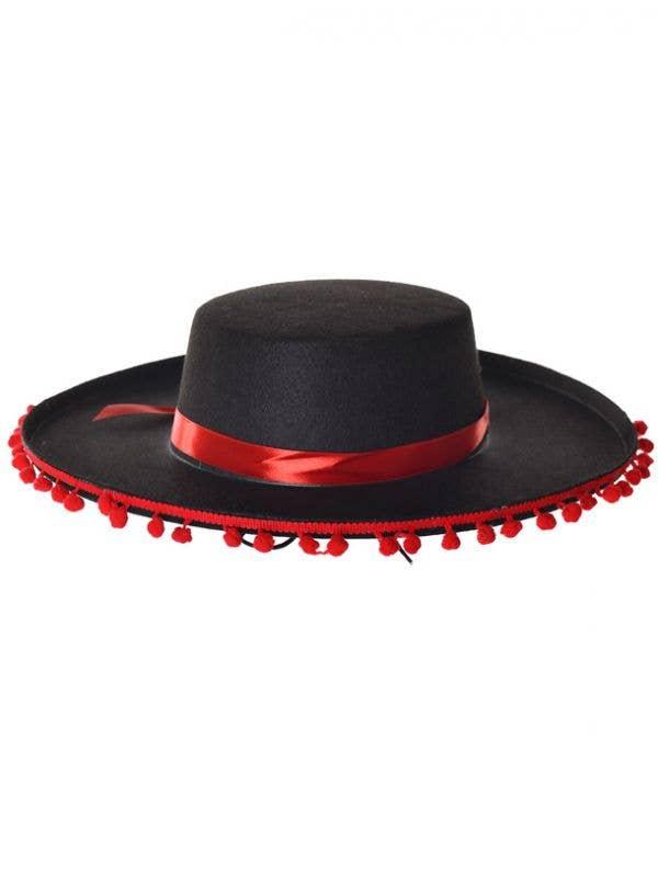 Spanish Matador Hat With Red Pom Poms  bb8c6e07ff5