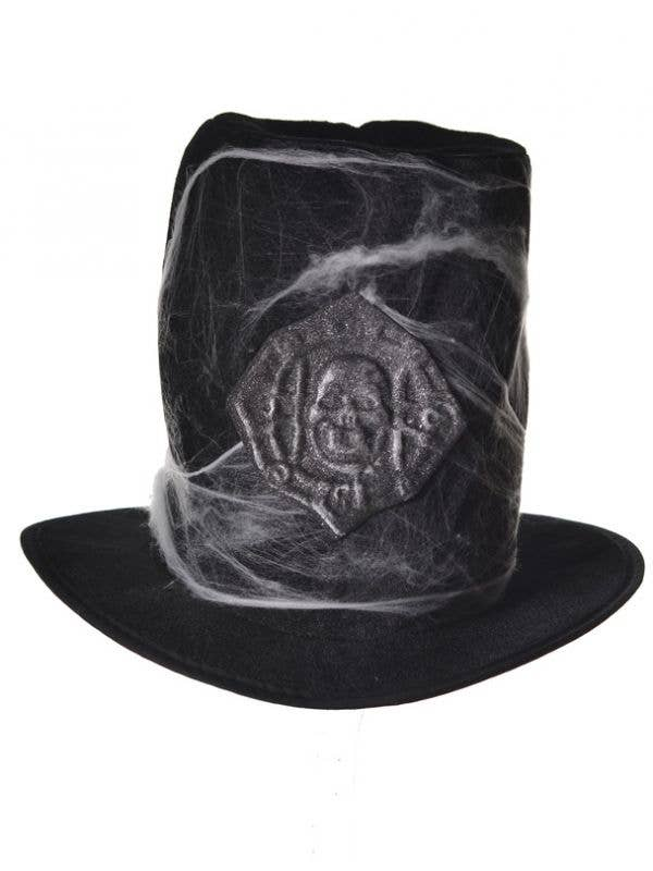 63f50a360de1be Grave Digger Costume Hat | Grey Halloween Top Hat Costume Accessory