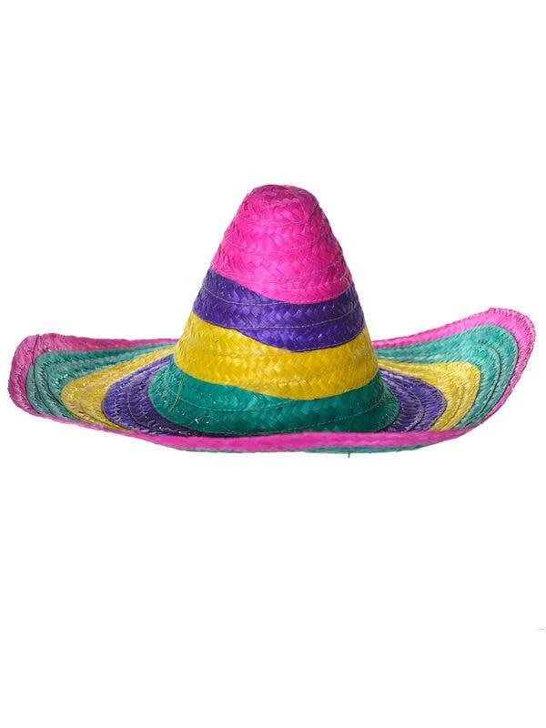 de066a02 Multicoloured Mexican Sombrero Costume Hat | Mexican Costume Hat
