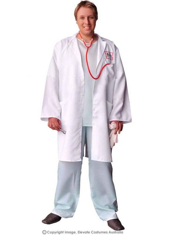 0e94ce3ca1859 Dr Feelgood Plus Size Men's Costume | White Lab Coat Doctor Costume