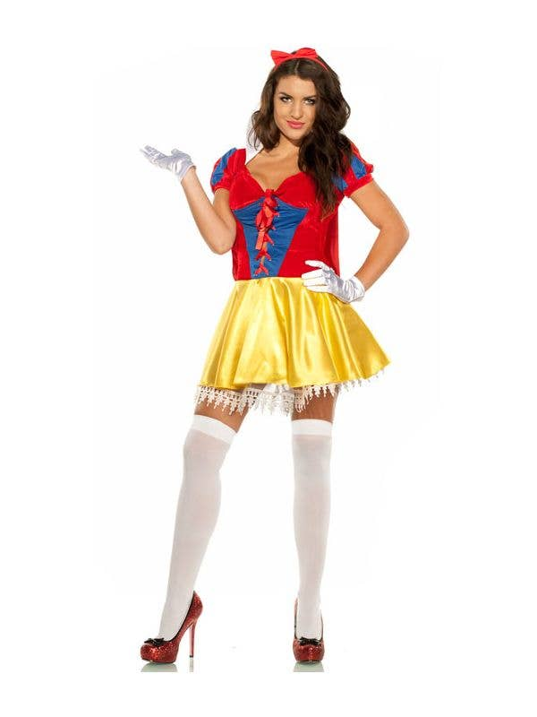 Women's Sexy Fairytale Snow White Fancy Dress Costume Main Image