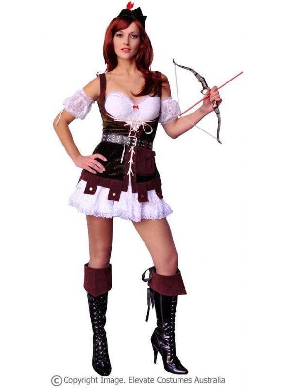 69c10adf081 Women s Hunter Robin Hood Sexy Fancy Dress Costume Full Length View