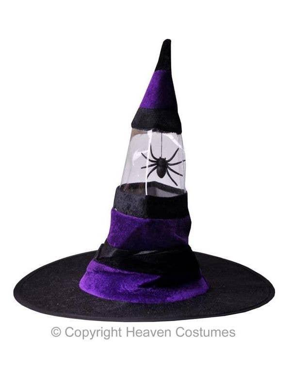 b39efed9a Spider Halloween Witch Hat - Purple