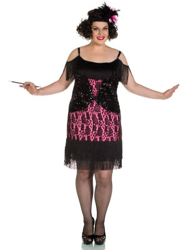 1920 S Flapper Plus Size Costume Miss Viola Sexy Flapper