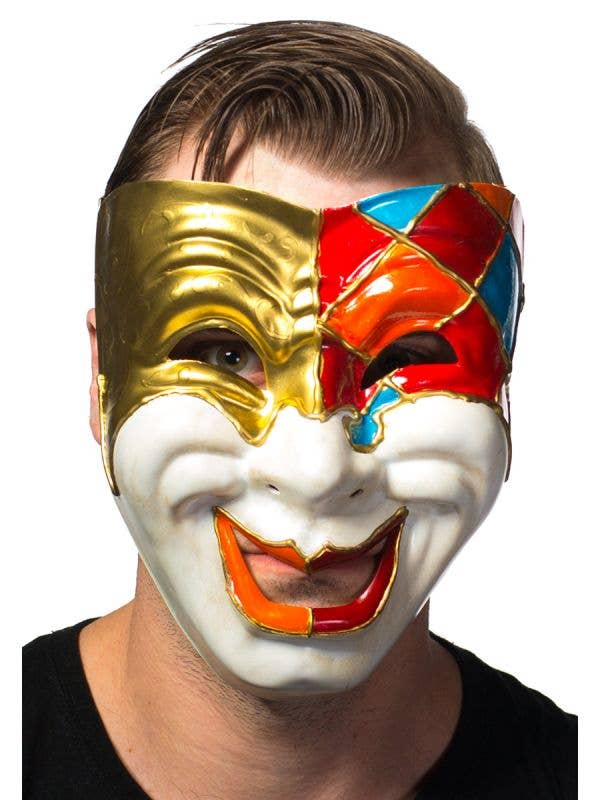 Men's Full Face Comedy Masquerade Mask View 1