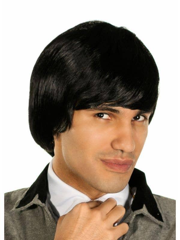 Men's Black Beatles Costume Wig