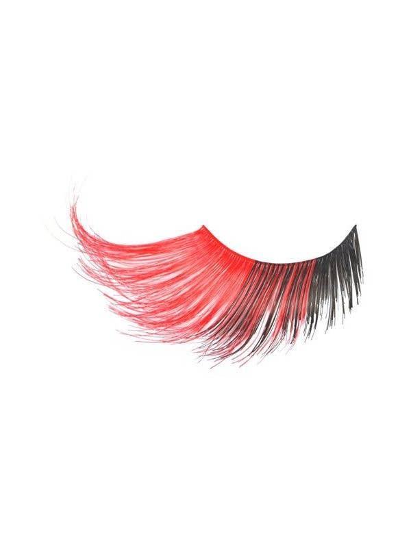 Red And Black Jumbo Long False Costume Eyelashes Main View