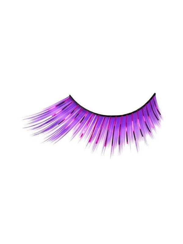 704007e57db Purple Costume Eyelashes With Tinsel Highlights Main Image