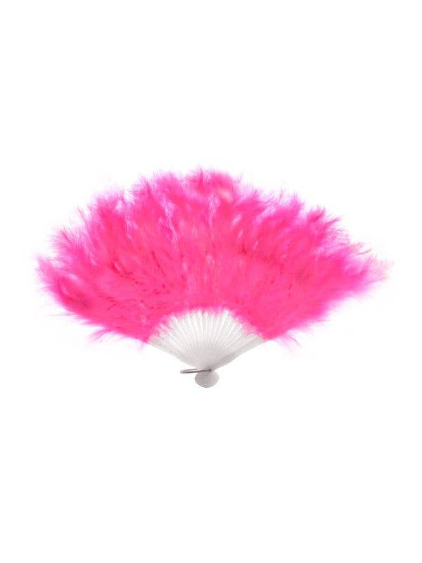 Hot Pink Feather Fan Burlesque Costume Accessory
