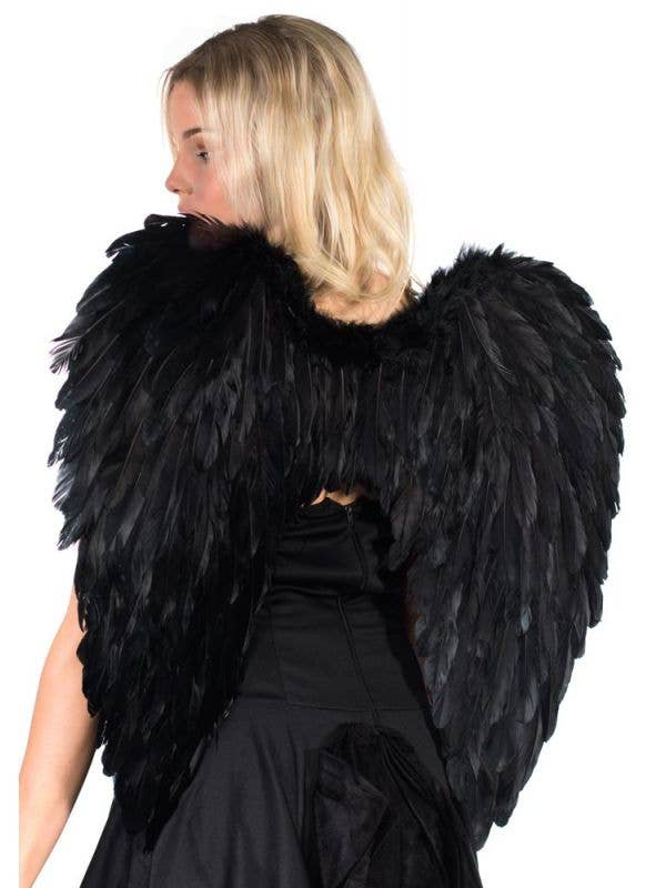 Large Black Feather Wings Dark Angel Feather Costume Wings