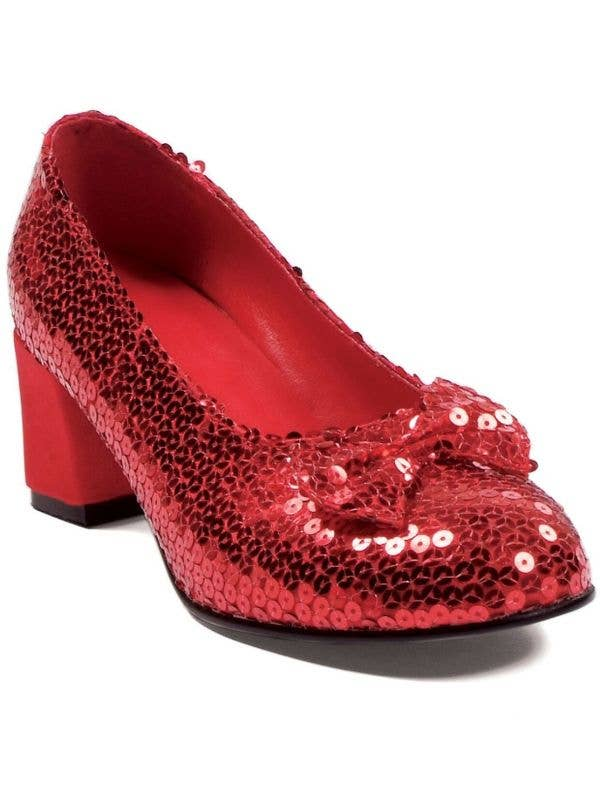 Women's Red Dorothy Judy Sequined Costume High Heel Shoes Wizard Of Oz Main Image