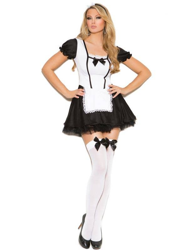 Sexy Mischievous French Maid Fancy Dress Costume For Women Front