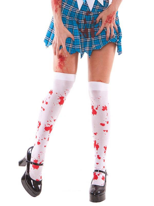 3b7dcd9f4d0d6 Zombie Thigh High Stockings | Blood Splattered Women's Stockings
