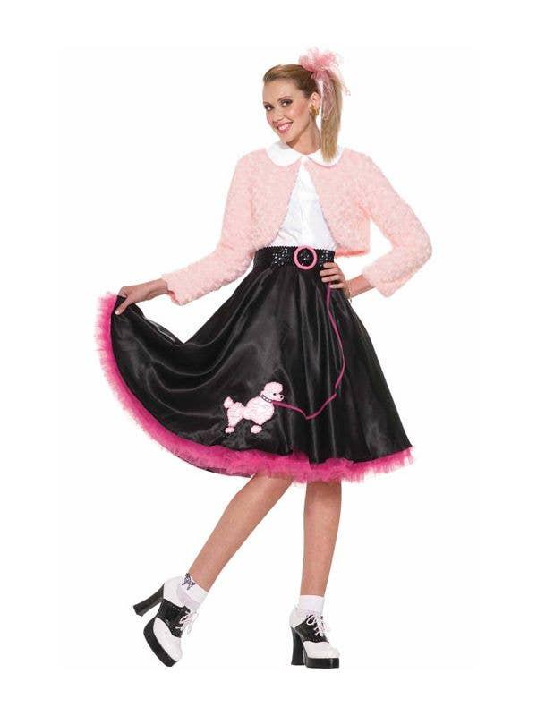13958fd2d248 1950's Sweetheart Women's Costume   Poodle Skirt 50's Fancy Dress