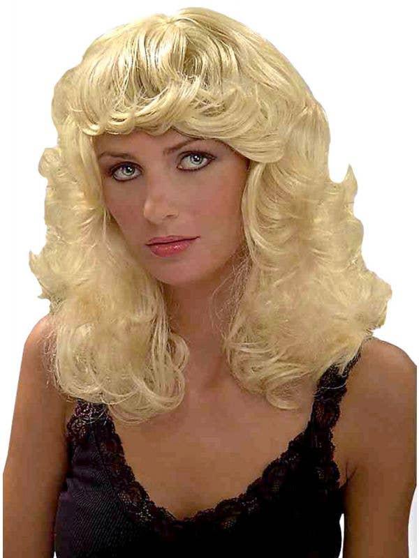 Women's Blonde Beauty Curly Costume Wig