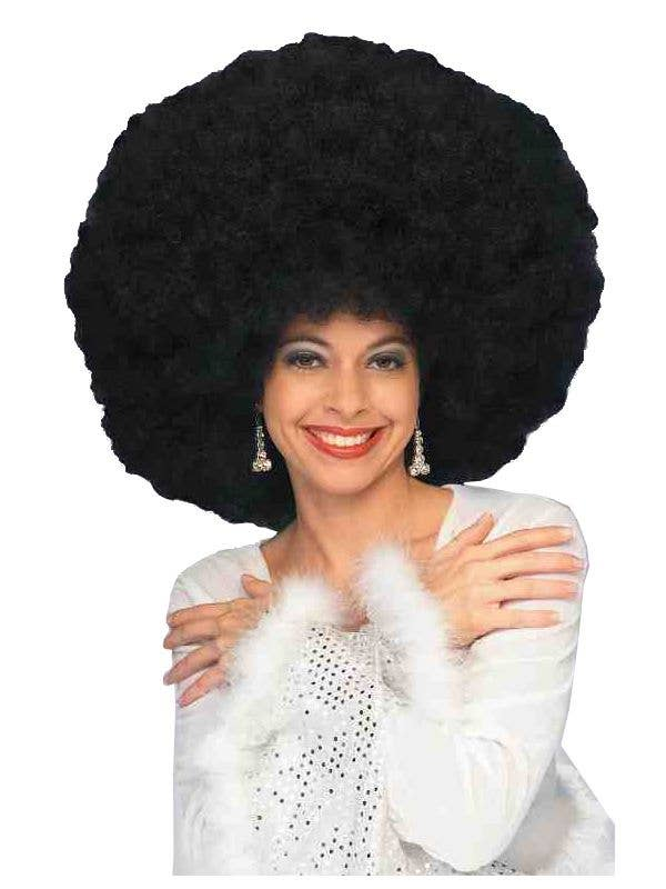 Black Women's Afro 1970s Costume Wig Main Image