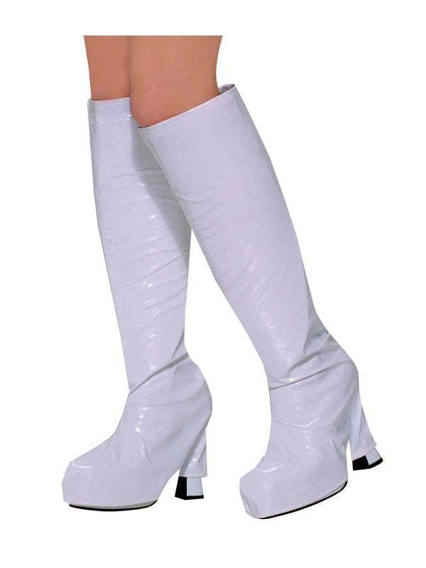 2c183d29865 Women s 60 s White Go Go Boot Top Covers