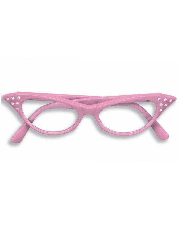 Women's Pink Lady Glasses Costume Accessory