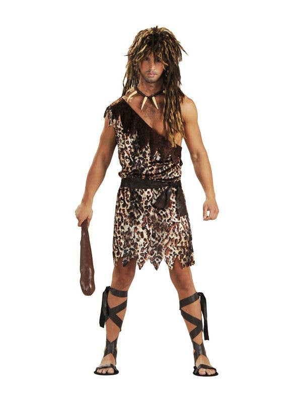 Cave Stud Men's Prehistoric Stone Age Caveman Fancy Dress Costume Main Image