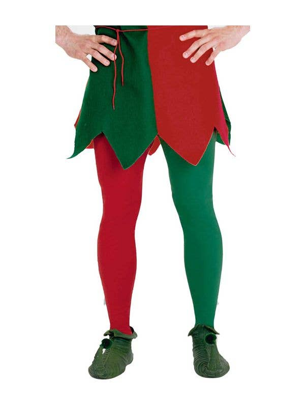 b7a9281eb71c8 Forum Novelties Red and Green Plus Size Christmas Elf Tights - Main Image