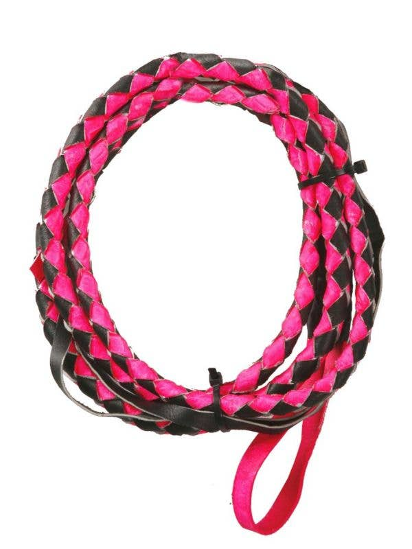 Black and Pink Leather Look Sexy Cowgirl Costume Accessory Main Image