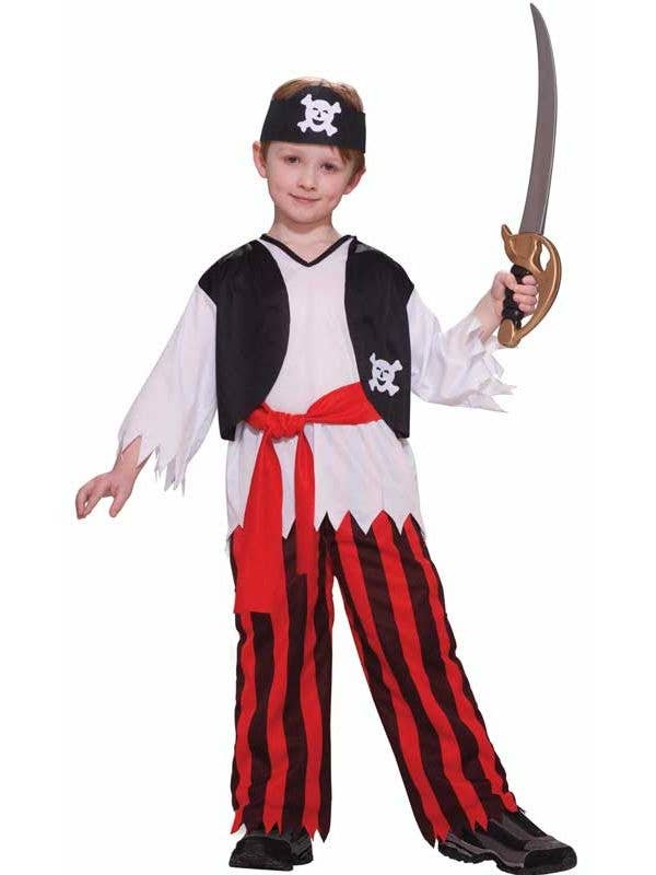 Budget Boy's Pirate Costume Front View