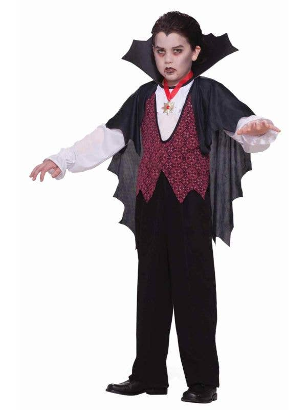 Boys Dracula Transylvanian Vampire Halloween Costume Main Image