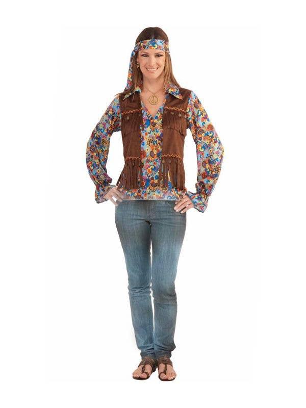 Women's Groovy Hippie Costume Main Image