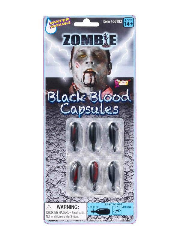 Halloween Horror Zombie Black Blood Special Effects Fake Blood Capsules Main Packaging Image