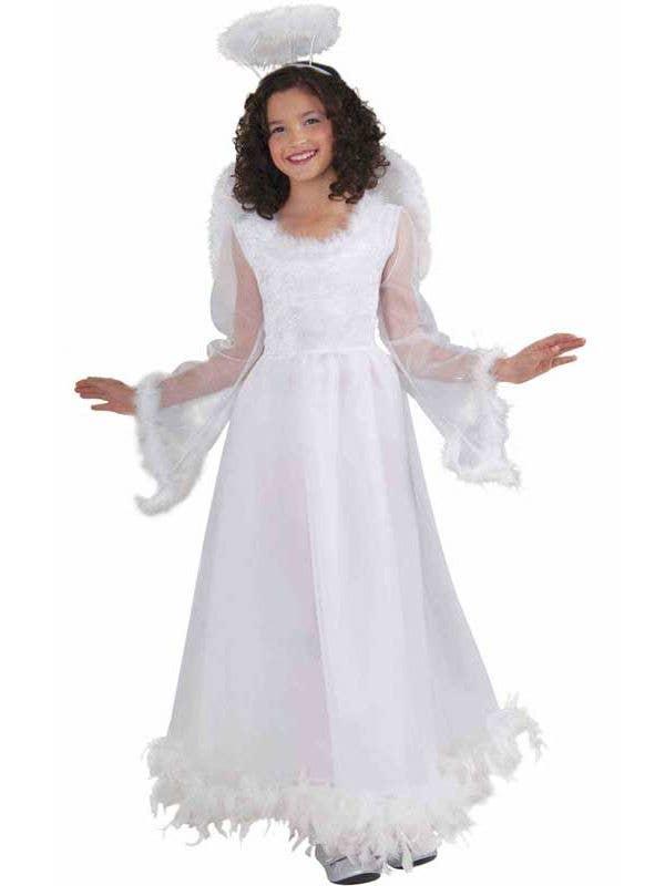 60d2fcd85427 Fluttery White Angel Girls Costume