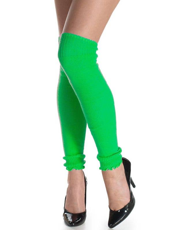 1980s Fashion Neon Green Leg Warmers Forum Novelties - Main Image