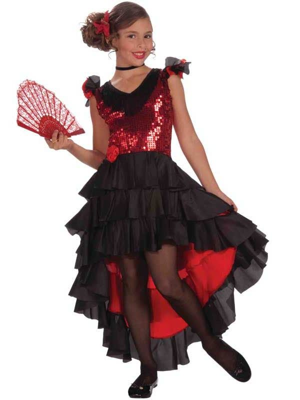 7384341c85d3a Flamenco Dancer Girls Costume | Spanish Kids Book Week Costume