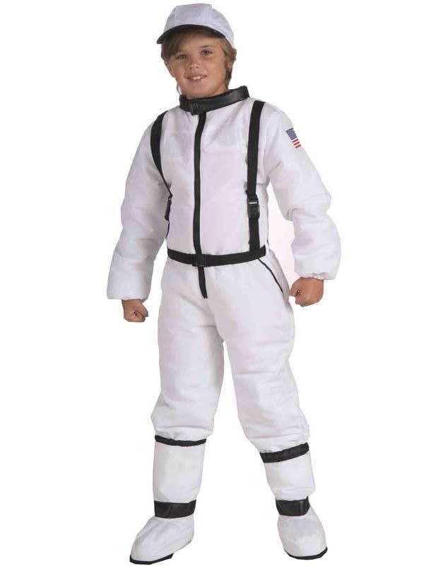 Space Explorer Boys Costume Astronaut Kids Fancy Dress Costume