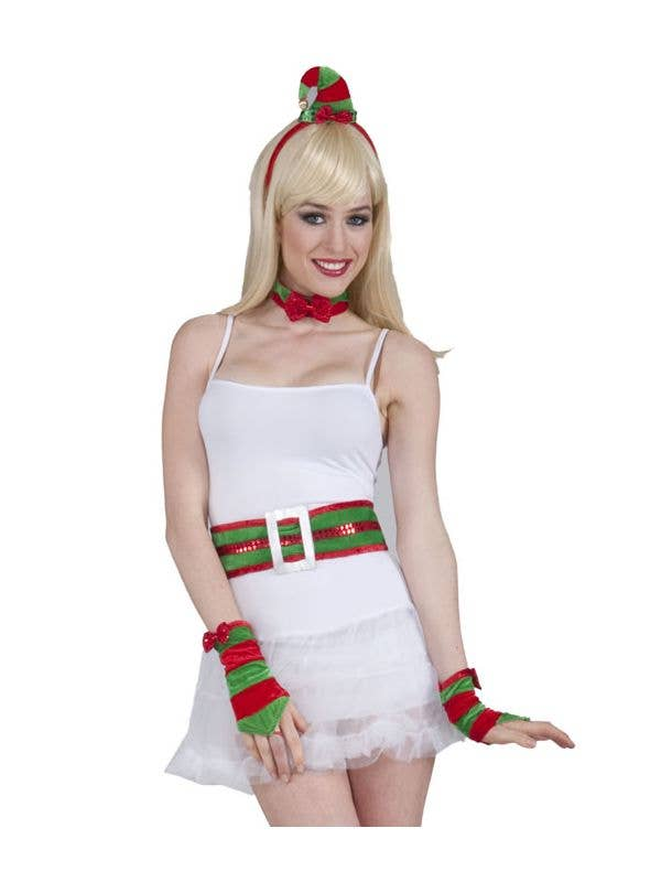 a1be2f1fe3 Women s Christmas Elf Costume Accessory Kit