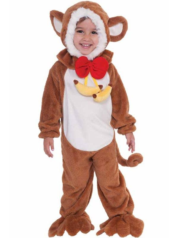 53602d1c149 Kid s Toddler Brown Monkey Jungle Animal Costume Front View