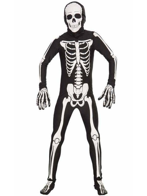 Skeleton Second Skin Boys Costume Skeleton Kids Halloween Costume