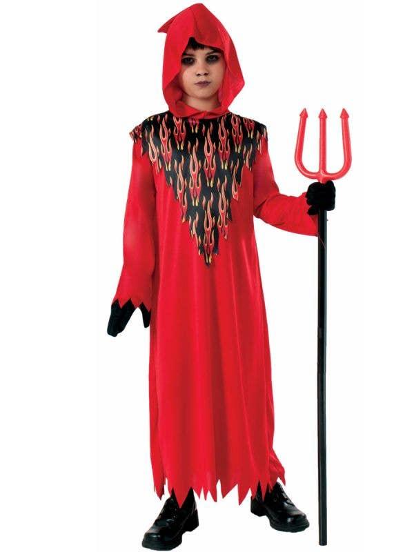 Red Devil Boys Halloween Fancy Dress Costume