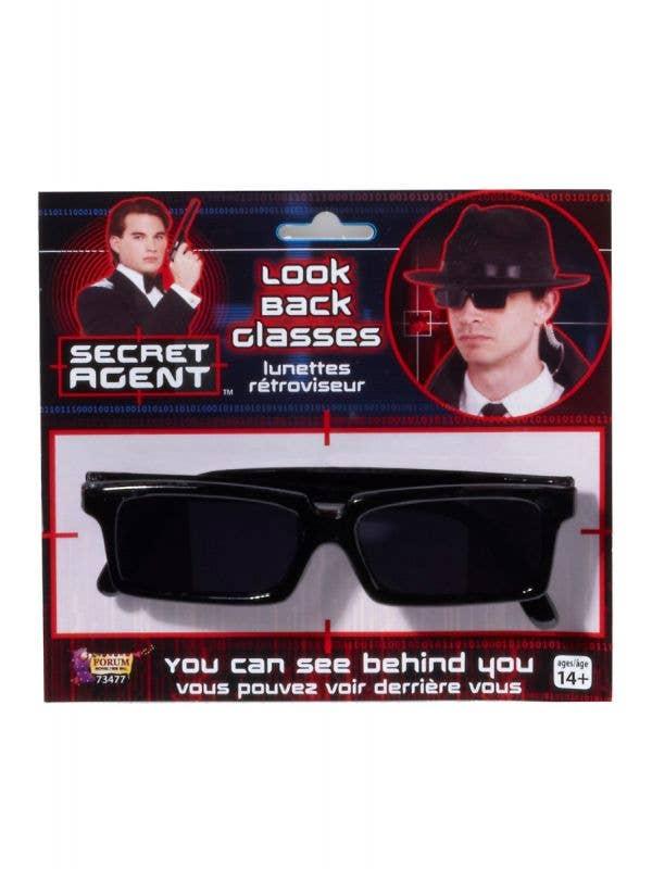 Look Back Secret Agent Black Costume Accessory Glasses Main Image