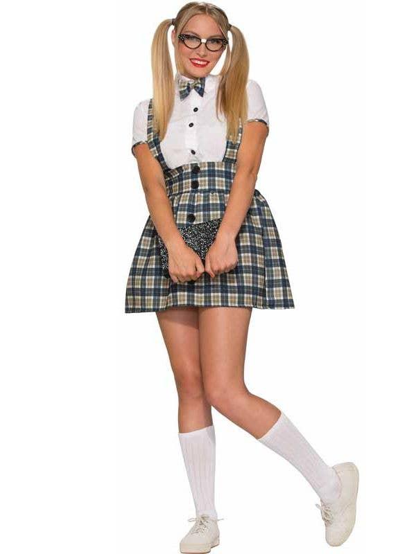 5c48ebf09681 1950's Nerd Girl Women's Costume | Women's Geek Schoolgirl Costume