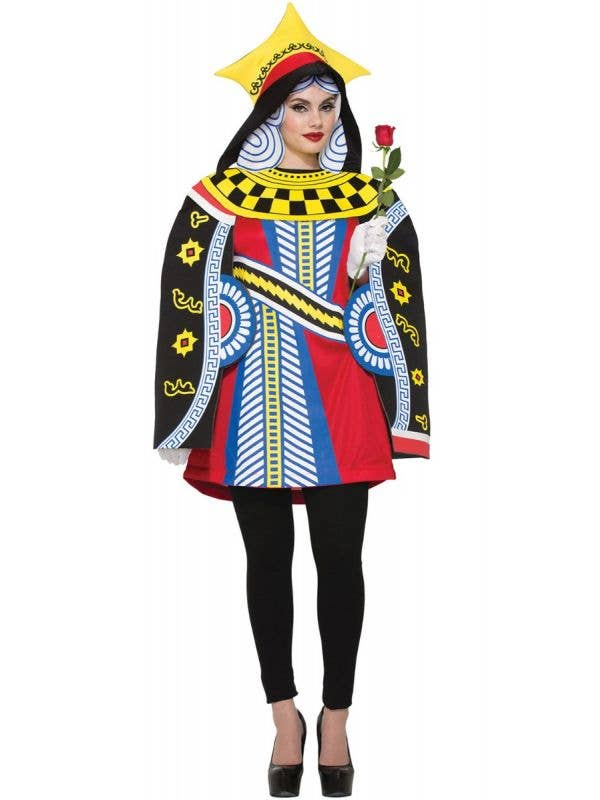 Women's Queen Of Cards Alice In Wonderland Inspired Fancy Dress Costume By Forum Novelties Main Image
