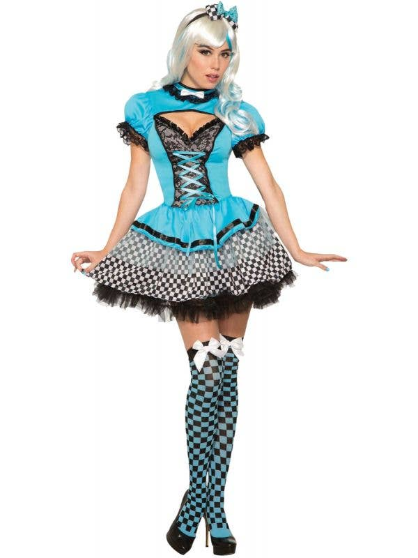 Sexy Women's Magical Alice in Wonderland Fancy Dress Costume Main Image