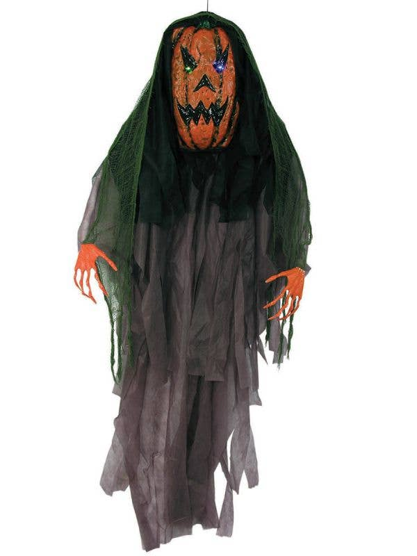 6 Foot Hanging Evil Pumpkin Halloween Haunted House Decoration