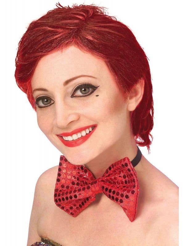 Women's Short Red Officially Licensed Colombia Costume Wig