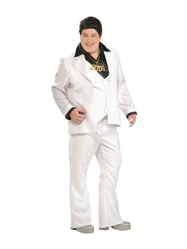 Plus Size Men's Saturday Night Fever 70's Disco Costume Front