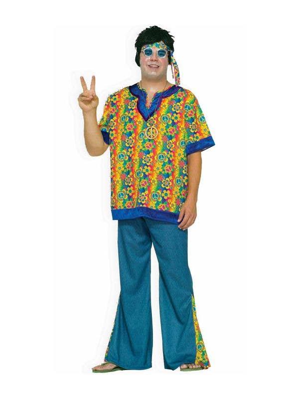 Hippie Dude Plus Size Men\'s 70\'s Costume | Plus Size 70\'s Costume