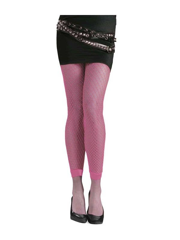 60562041bc011 80's Stockings | Neon Pink Footless Fishnet Stockings | Pink Fishnets