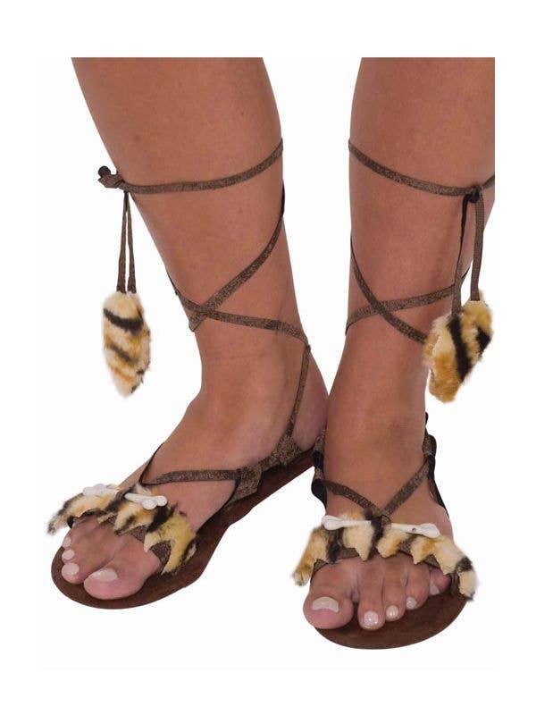 96b703a00c111 Women s Caveman Costume Shoes
