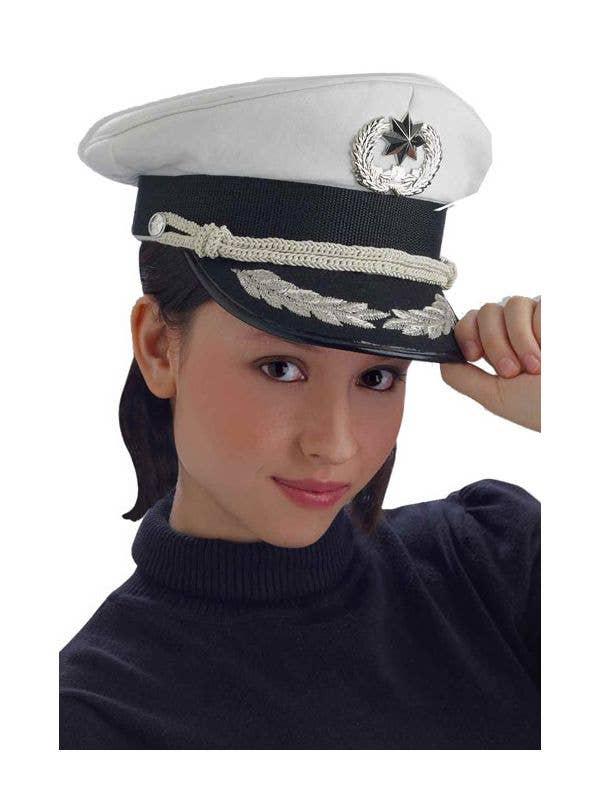 fac536328 White Sailor Navy Officer's Hat