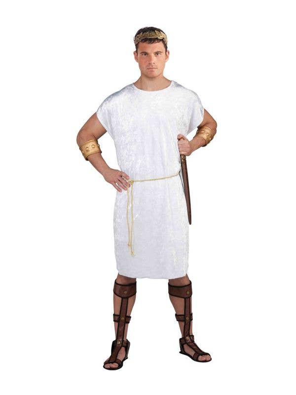 Men's Basic White Greek or Roman Costume Tunic Front