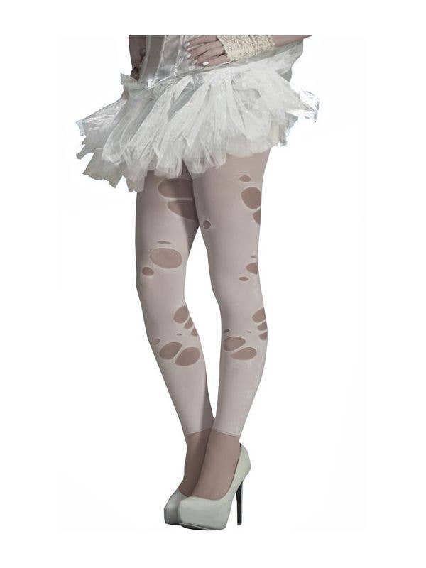 338a017a8 Ghostly Spirits Ripped White Leggings